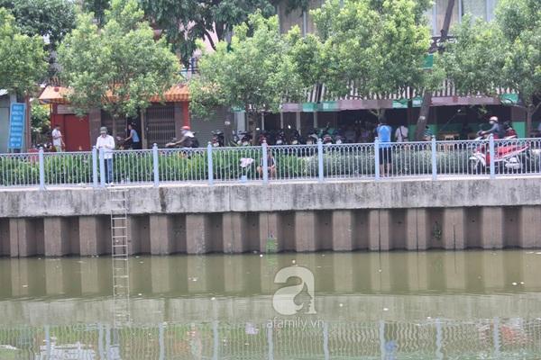 Quá ô nhiễm, cá chết hàng loạt dưới kênh Nhiêu Lộc 12