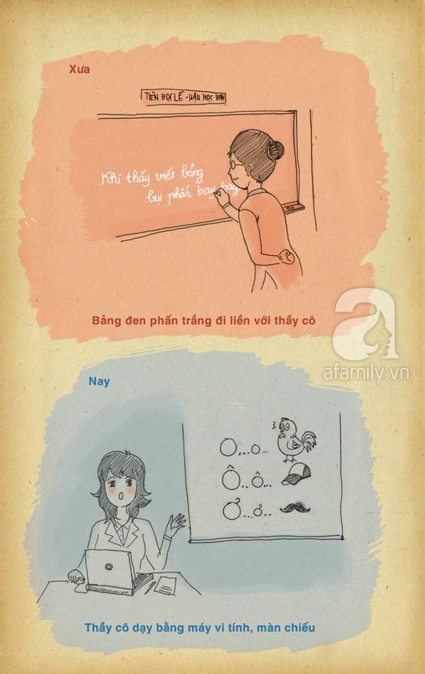 Chùm tranh vui 20/11: Những khác biệt thú vị giữa thầy cô xưa và nay 3