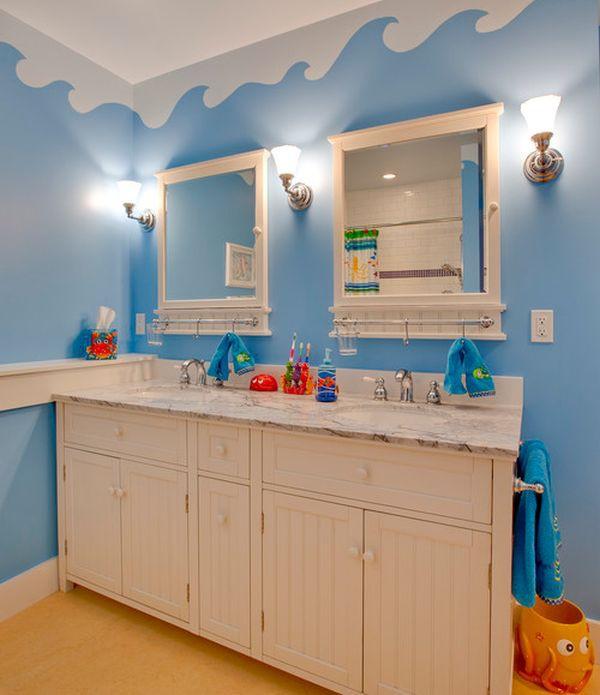 Trang trí phòng tắm đầy màu sắc vui nhộn cho bé 5