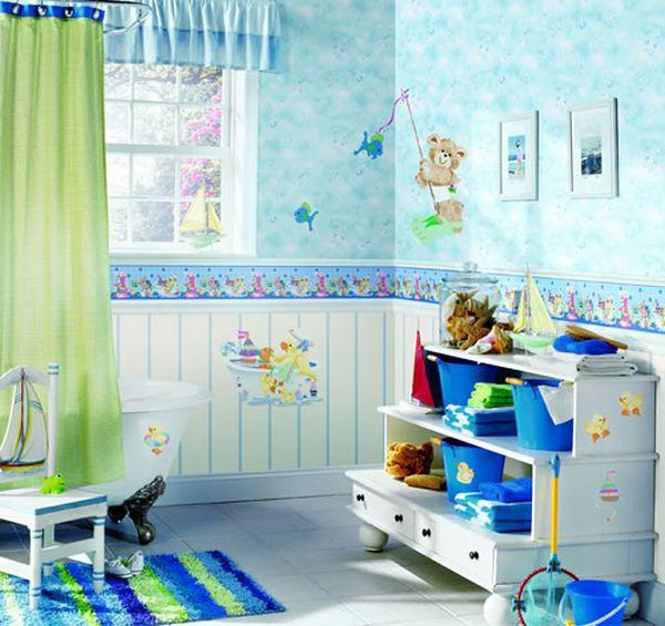 Trang trí phòng tắm đầy màu sắc vui nhộn cho bé 11