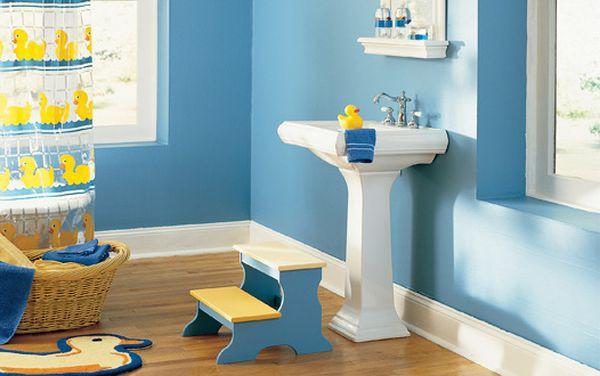 Trang trí phòng tắm đầy màu sắc vui nhộn cho bé 4