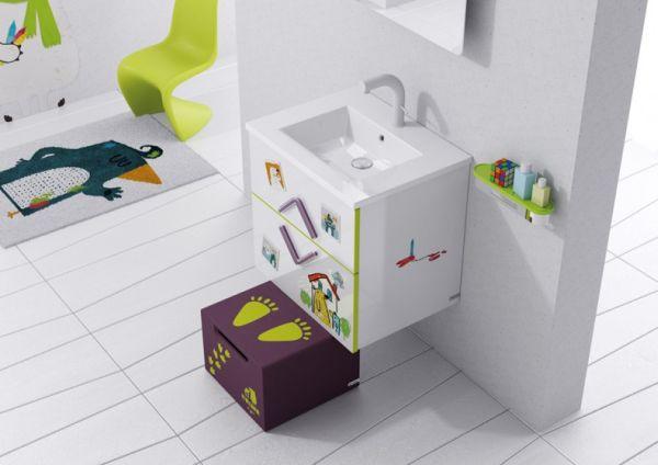Trang trí phòng tắm đầy màu sắc vui nhộn cho bé 1