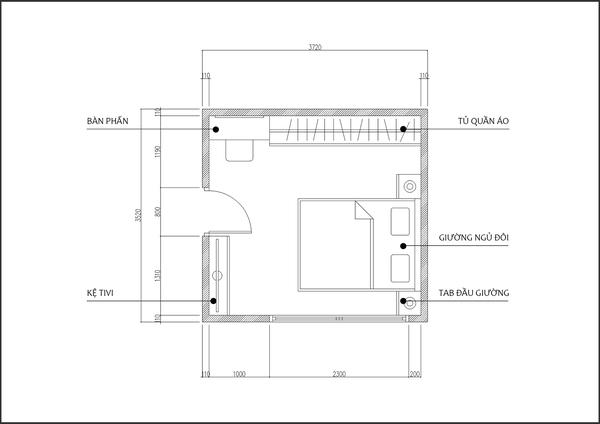 Tư vấn thiết kế cho phòng ngủ nhỏ 13m² ở phố cổ đẹp lung linh 1