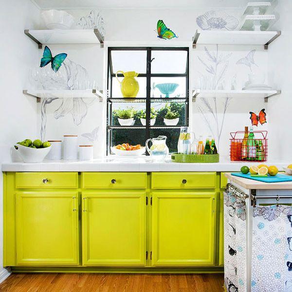 Nhà bếp phong cách với hệ thống kệ mở 1