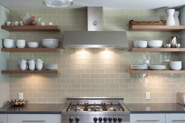 Nhà bếp phong cách với hệ thống kệ mở 2