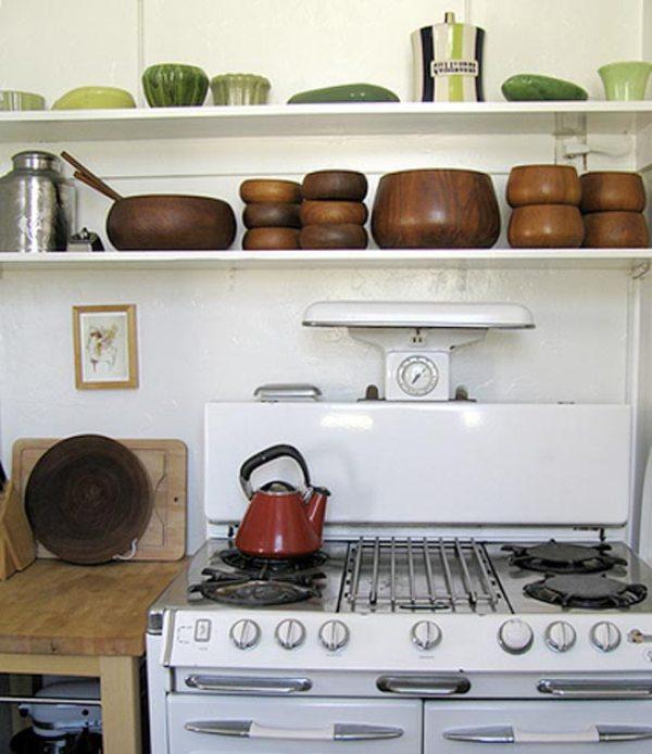 Nhà bếp phong cách với hệ thống kệ mở 6