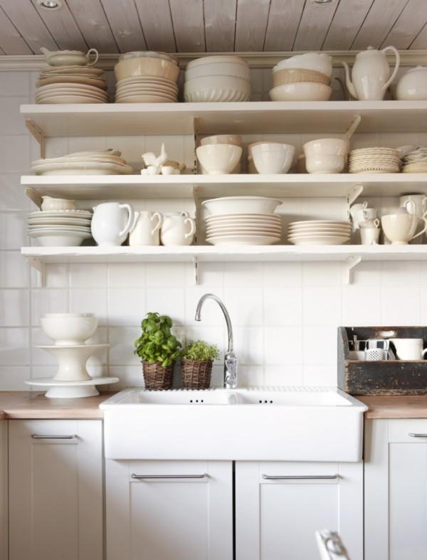 Nhà bếp phong cách với hệ thống kệ mở 8
