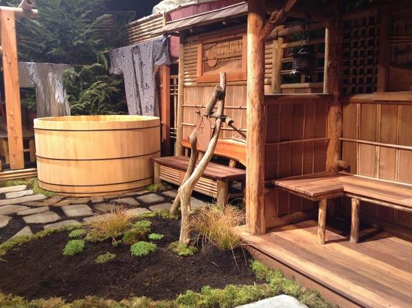 Bồn tắm lộ thiên đơn giản mà quyến rũ theo phong cách Nhật Bản  1