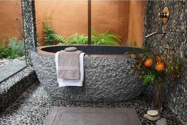 Bồn tắm lộ thiên đơn giản mà quyến rũ theo phong cách Nhật Bản  5