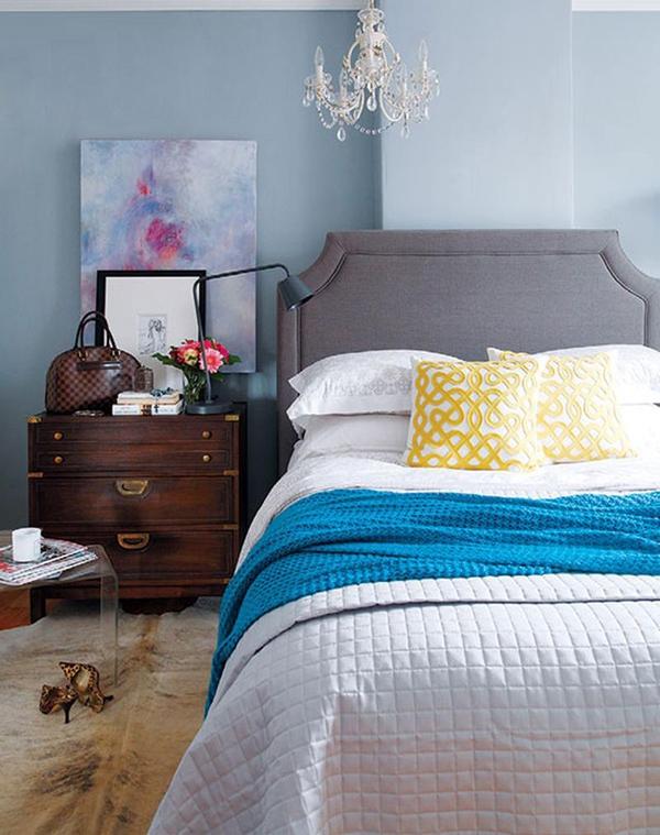 11 mẫu phòng ngủ dành riêng cho tín đồ màu xanh  3