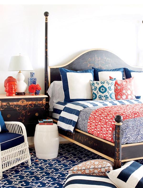 11 mẫu phòng ngủ dành riêng cho tín đồ màu xanh  5