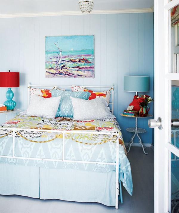 11 mẫu phòng ngủ dành riêng cho tín đồ màu xanh  8