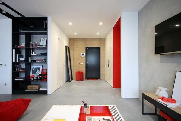 Căn hộ 56m² với những mảng phối màu đỏ tràn đầy năng lượng 3
