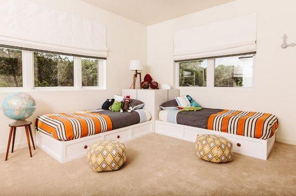 Những kiểu giường góc phù hợp với phòng ngủ nhỏ 5