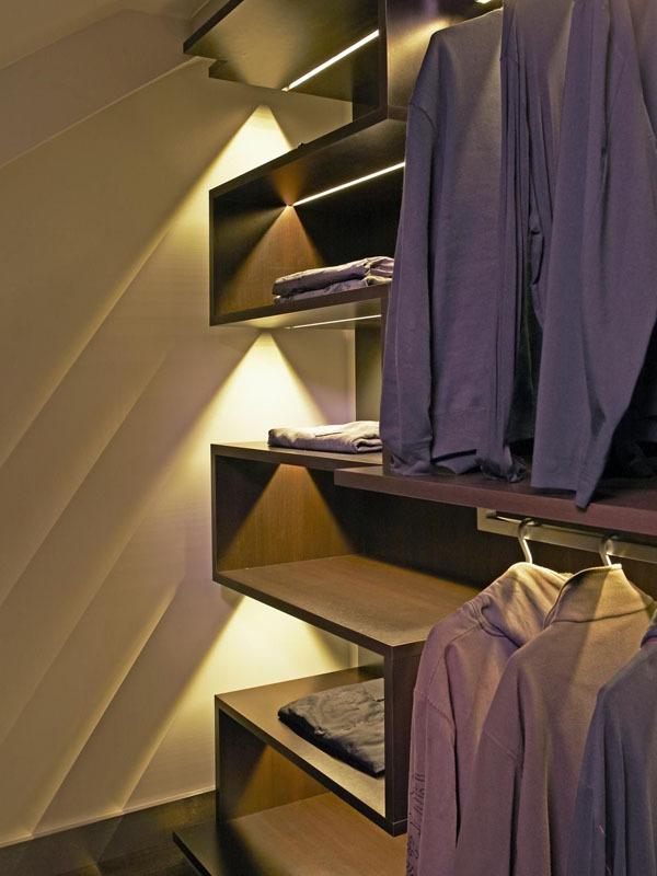 Mẹo thiết kế ánh sáng cho tủ quần áo, phòng thay đồ  12