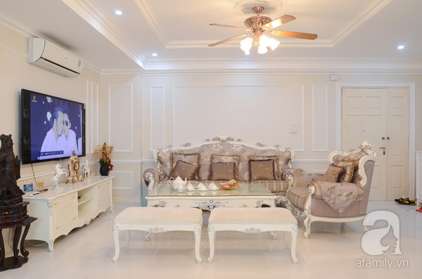 Ngắm căn hộ màu trắng 4 phòng ngủ sang trọng giữa lòng Hà Nội 3