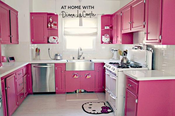 Ngắm căn bếp Hello Kitty cực xinh của đôi vợ chồng son 2
