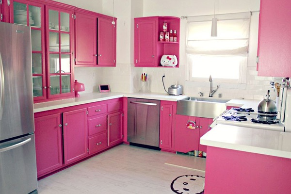 Ngắm căn bếp Hello Kitty cực xinh của đôi vợ chồng son 8