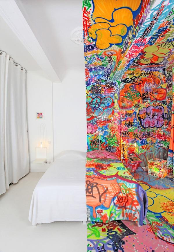 Đẹp – độc – lạ với phong cách Graffiti trang trí nhà  4