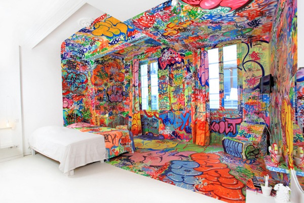 Đẹp – độc – lạ với phong cách Graffiti trang trí nhà  1