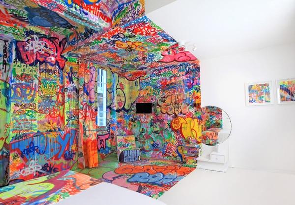 Đẹp – độc – lạ với phong cách Graffiti trang trí nhà  2