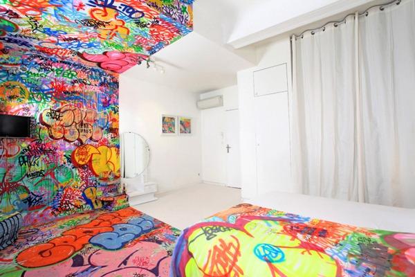 Đẹp – độc – lạ với phong cách Graffiti trang trí nhà  3