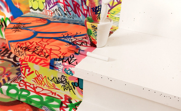 Đẹp – độc – lạ với phong cách Graffiti trang trí nhà  6