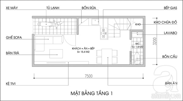 Tư vấn cải tạo và bố trí nội thất cho nhà lô có diện tích rộng 24m² 2