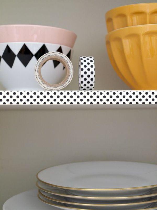 Ý tưởng trang trí nhà nhanh và đẹp với băng dính washi  9
