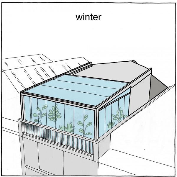 Khu vườn trên sân thượng giữa thành phố khiến hàng xóm
