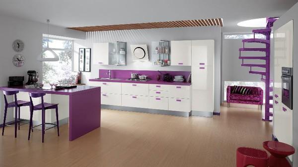 Những thiết kế bếp màu tím đẹp ngoài sức tưởng tượng 5