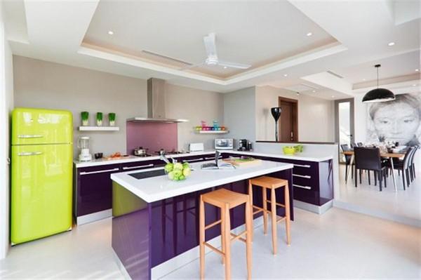 Những thiết kế bếp màu tím đẹp ngoài sức tưởng tượng 12