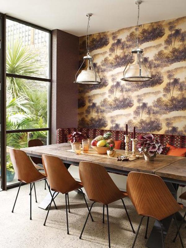 15 ý tưởng tạo nét đẹp hài hòa giữa giấy dán tường và nội thất 1