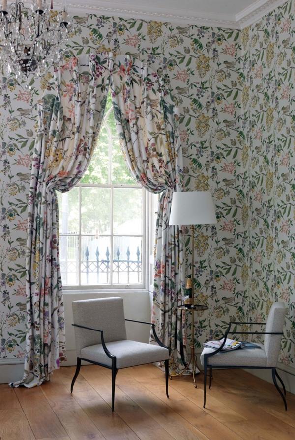 15 ý tưởng tạo nét đẹp hài hòa giữa giấy dán tường và nội thất 3