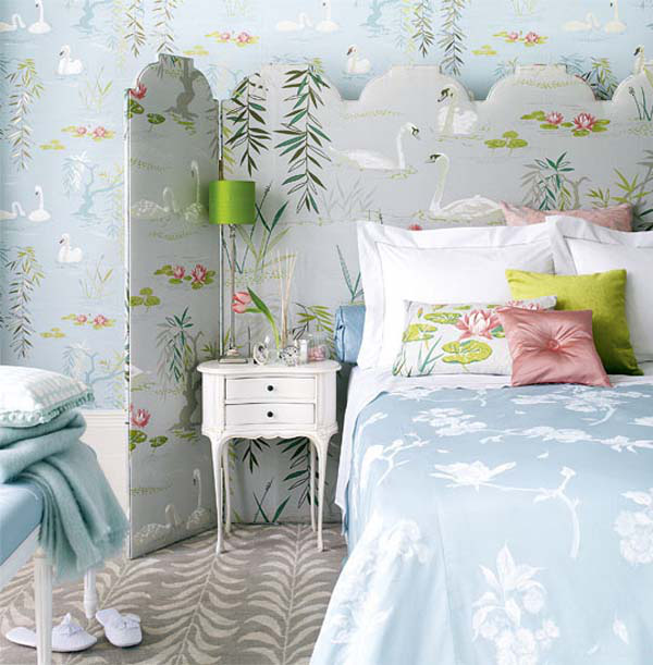 15 ý tưởng tạo nét đẹp hài hòa giữa giấy dán tường và nội thất 7