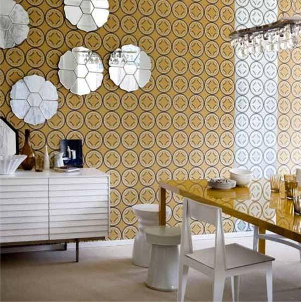 15 ý tưởng tạo nét đẹp hài hòa giữa giấy dán tường và nội thất 8