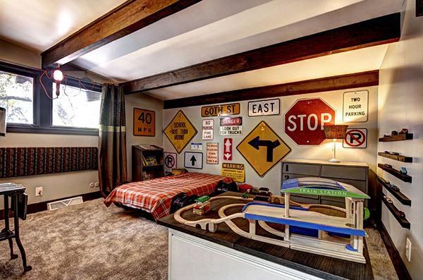 Ý tưởng trang trí phòng ngủ bé trai cực đẹp 8