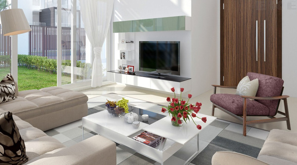 Tư vấn thiết kế và bố trí nội thất cho nhà ống có 2 khoảng vườn xanh 5