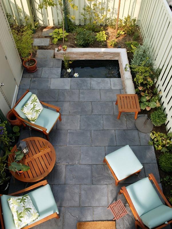 Tư vấn thiết kế và bố trí nội thất cho nhà ống có 2 khoảng vườn xanh 6