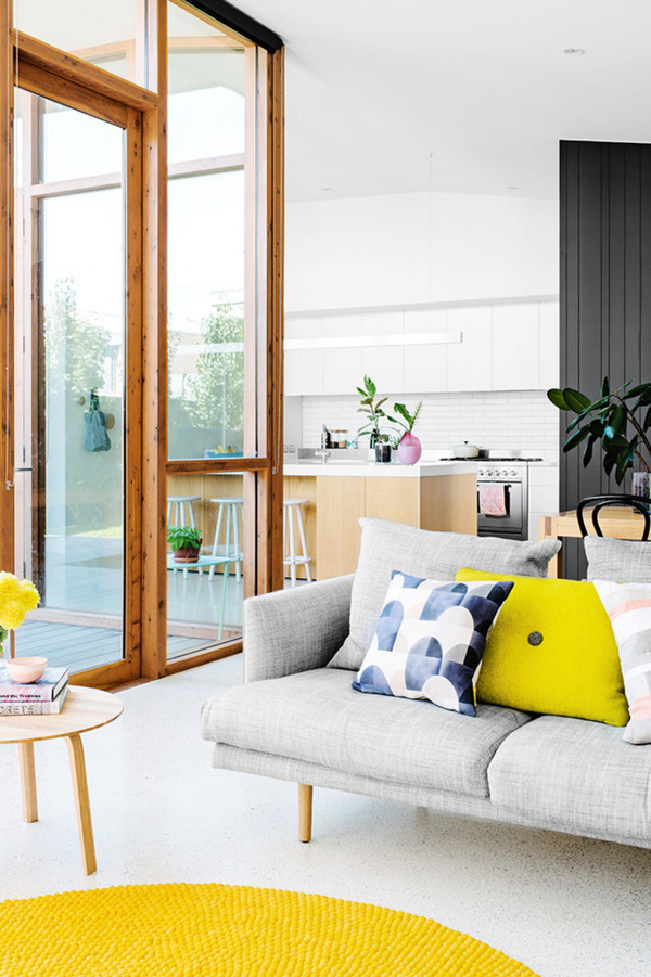 Trang trí nhà với gam màu vàng nổi bật 7