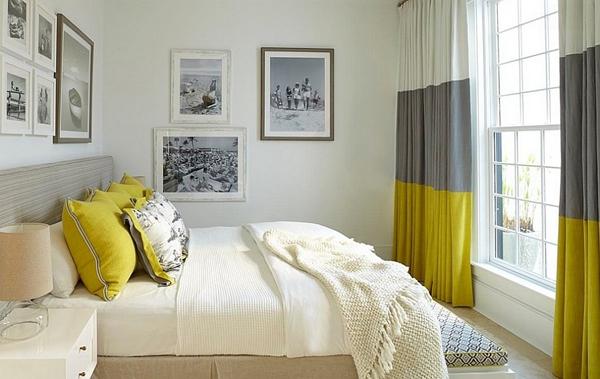Phòng ngủ với gam màu xám sang trọng và vàng thanh lịch 10