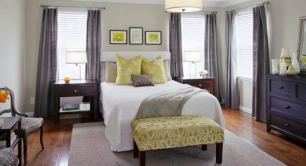 Phòng ngủ với gam màu xám sang trọng và vàng thanh lịch 13