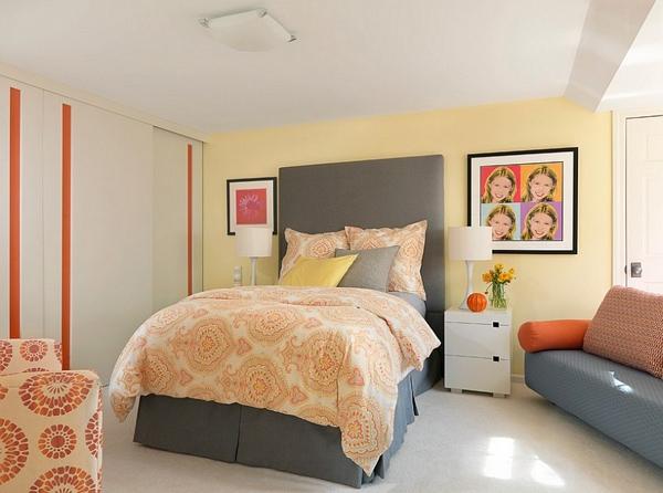 Phòng ngủ với gam màu xám sang trọng và vàng thanh lịch 23