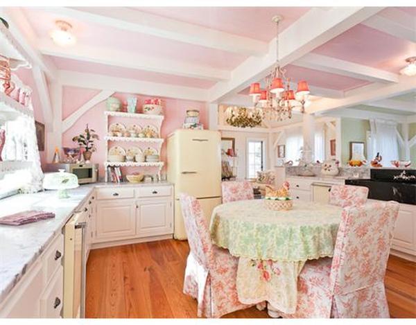 bếp màu hồng