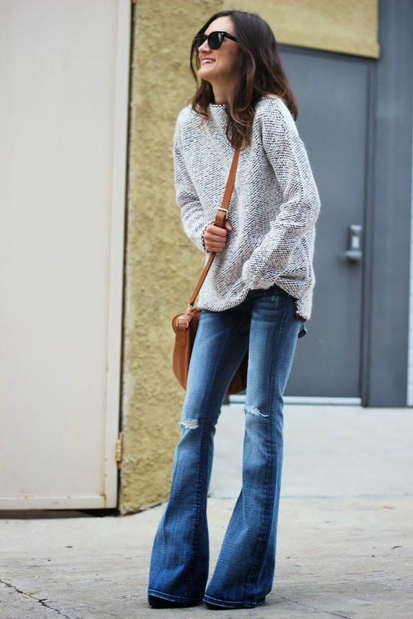 Quần jeans ống loe