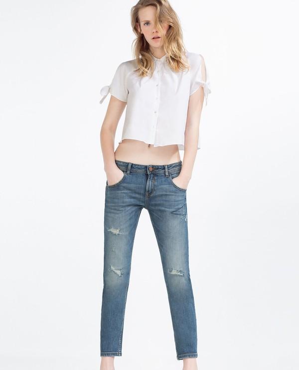 skinny jeans cho đôi chân ngắn