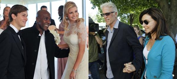 Cuộc đối đầu ngầm giữa hai nhà Trump - Clinton trong đám cưới con gái cưng