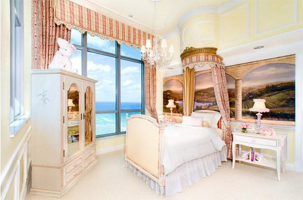 Mẫu phòng ngủ màu hồng đẹp như cổ tích cho bé gái 3