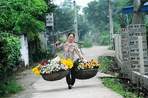 Tháng Mười và những gánh hoa rong đẹp lung linh ở thành Nam