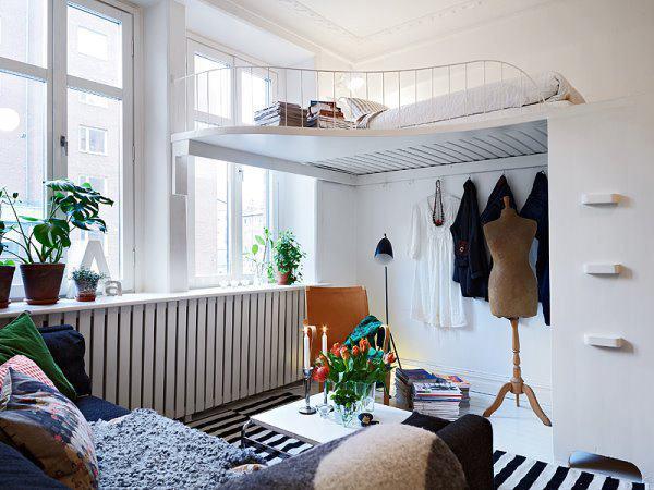 Gợi ý mẹo trang trí phòng ngủ nhỏ trở nên rộng rãi 10